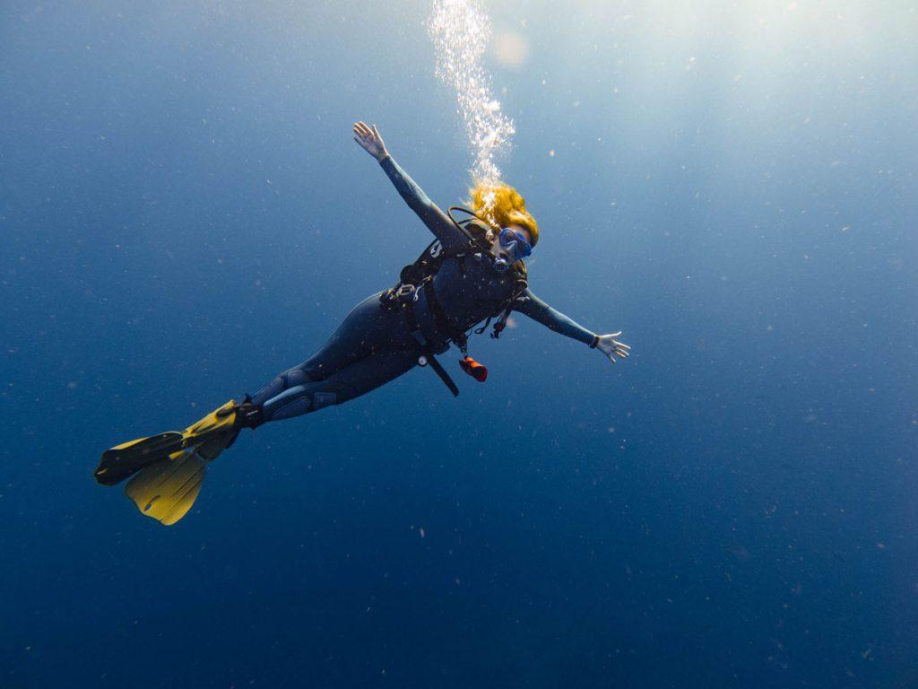 Scuba diver in similan islands