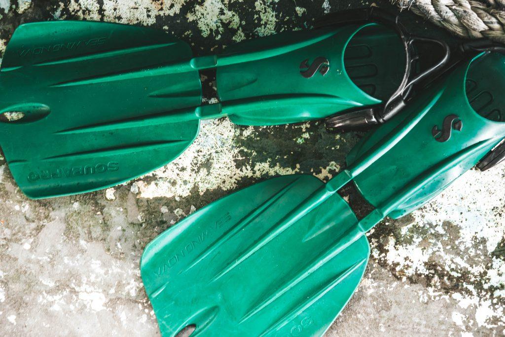 Green Scubapro fins